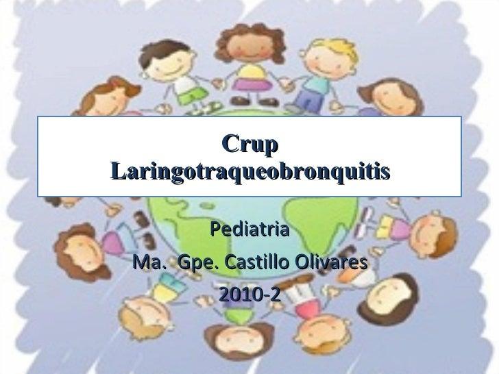Crup Laringotraqueobronquitis Pediatria Ma.  Gpe. Castillo Olivares 2010-2