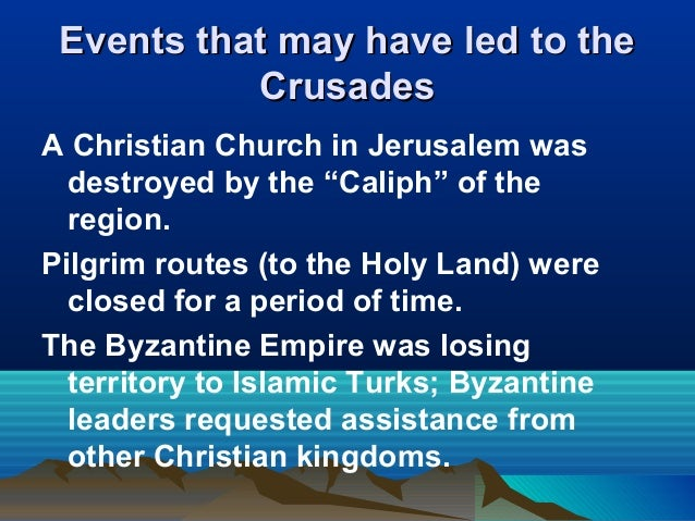 an overview and analysis of the roles of the crusades Houghton mifflin social studies across the centuries understanding primary sources: two sides in a crusade objective: students compare an excerpt from pope urban ii calling for a crusade to take control of jerusalem with the words of saladin calling for muslims to win control of the city.
