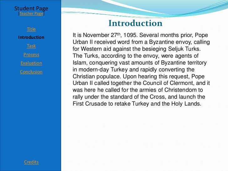 informative essay on pope urban ii As a result of the crusades, pope urban ii hoped for an increase in the power of the church order plagiarism free custom written essay.