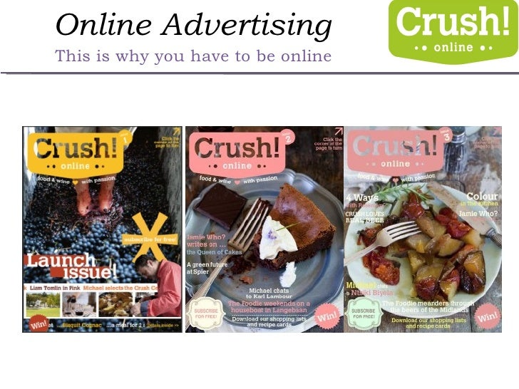 Online Advertising This is why you have to be online