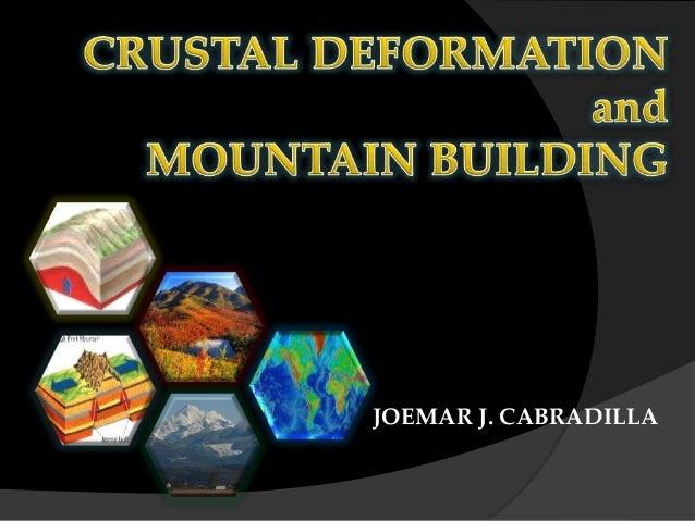 Crustal Deformation and Orogeny