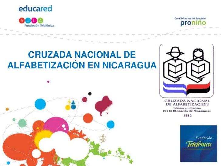 Cruzada nacional de alfabetización en nicaragua