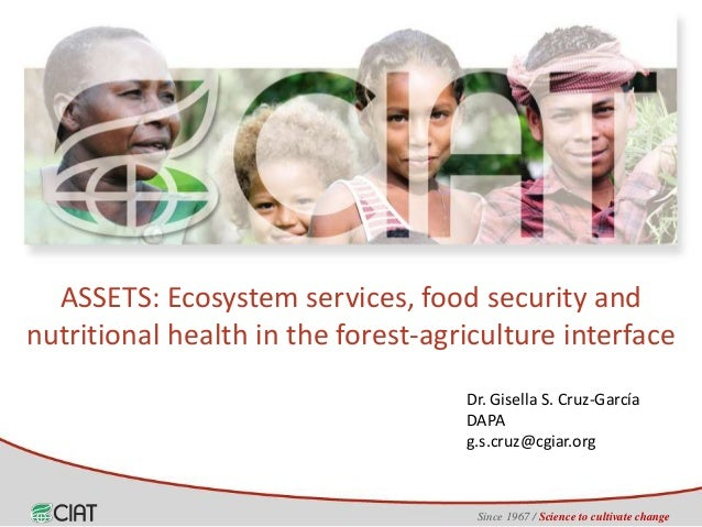 Since 1967 / Science to cultivate change Dr. Gisella S. Cruz-García DAPA g.s.cruz@cgiar.org ASSETS: Ecosystem services, fo...
