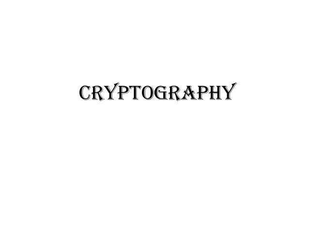 Cryptography basices