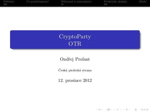 Cryptoparty otr