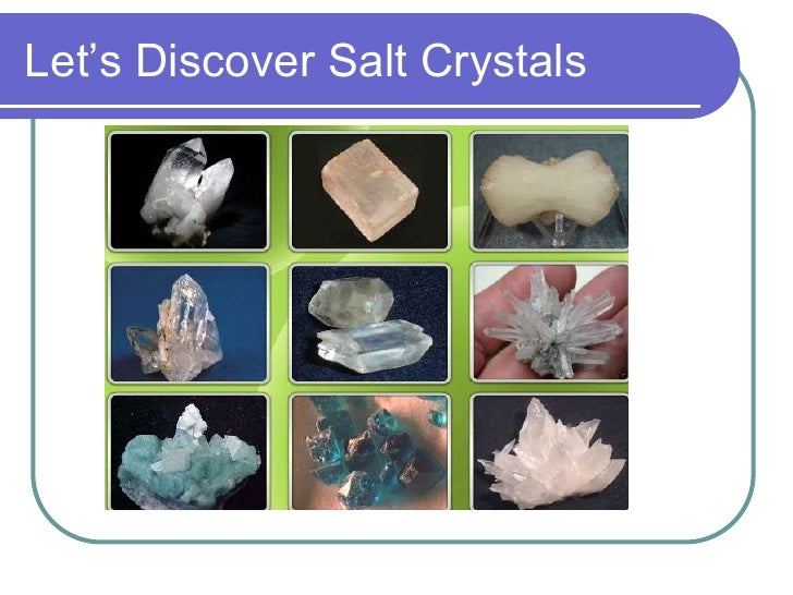 Let's Discover Salt Crystals
