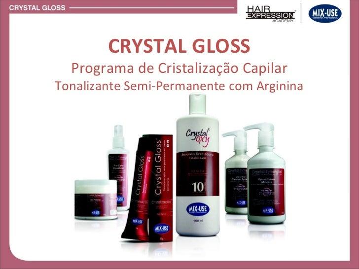 CRYSTAL GLOSS Programa de Cristalização Capilar Tonalizante Semi-Permanente com Arginina