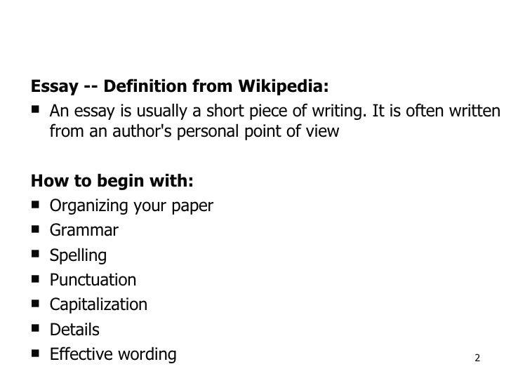 Write my essay wiki