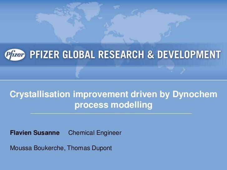 Crystallization process improvement driven by dynochem process modeling. Flavien Susanne.