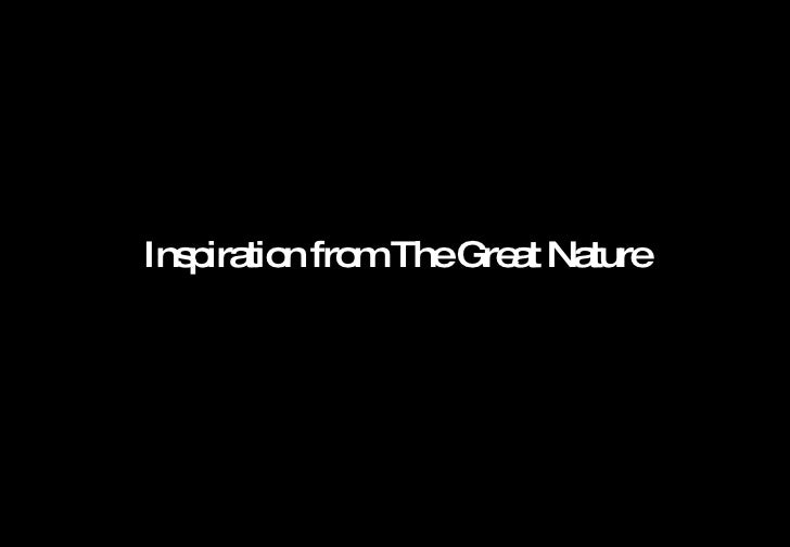 <ul><ul><li>Inspiration from The Great Nature </li></ul></ul>