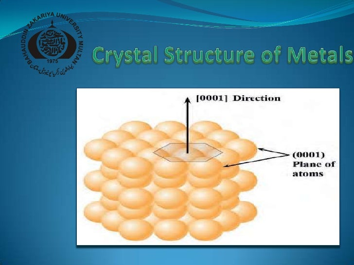 Crystal structure of metal