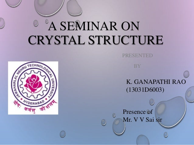 Crystral structure
