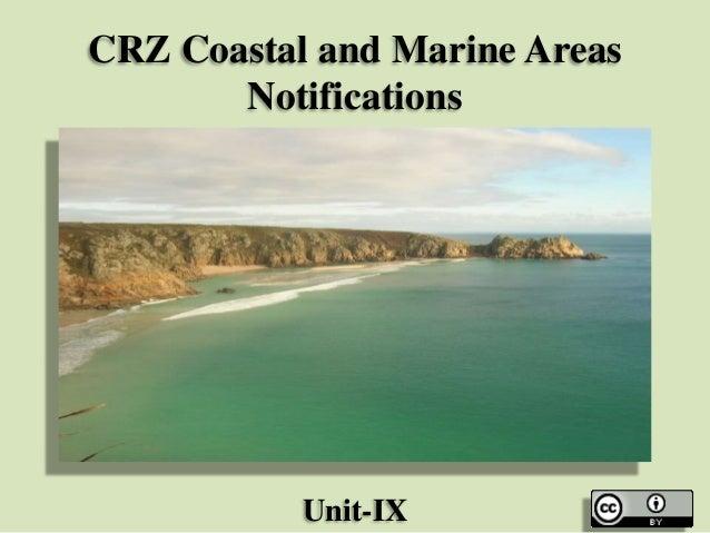 CRZ Coastal and Marine Areas Notifications