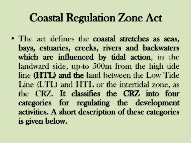 coastal regulation zone Coastal zone the south carolina coastal management program was established under the guidelines of the national coastal zone management act (1972) as a state-federal partnership to comprehensively manage coastal resources.