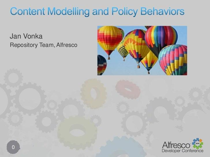 Content Modeling Behavior