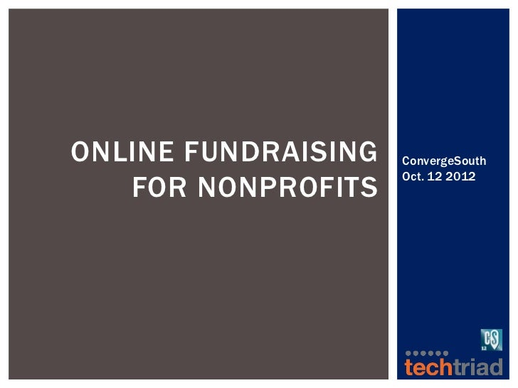 Online Fundraising for Nonprofits Sue Polinsky ConvergeSouth2012