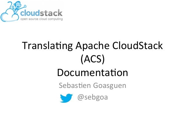 How to Translate Apache CloudStack Docs