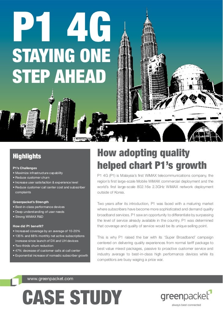 P1 4GSTAYING ONESTEP AHEADHighlights                                            How adopting qualityP1's Challenges• Maxim...