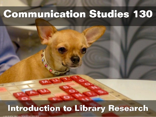 Communication Studies 130