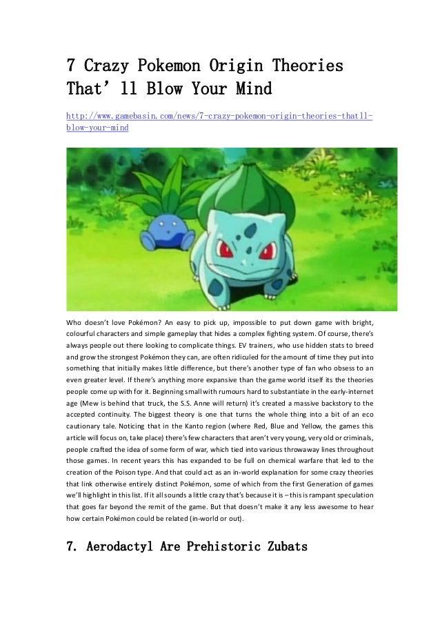 Crazy pokemon origin theories that ll blow your mind www gamebasin
