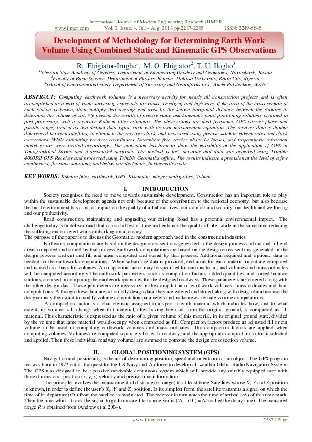 International Journal of Modern Engineering Research (IJMER) www.ijmer.com Vol. 3, Issue. 4, Jul. - Aug. 2013 pp-2287-2295...