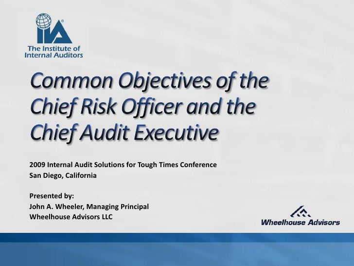 Common Objectives of the CRO and the CAE