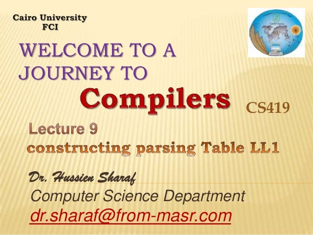 WELCOME TO A JOURNEY TO CS419