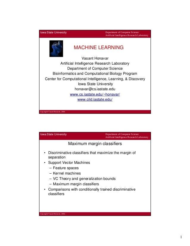 2013-1 Machine Learning Lecture 05 - Vasant Honavar - Support Vector Machi…