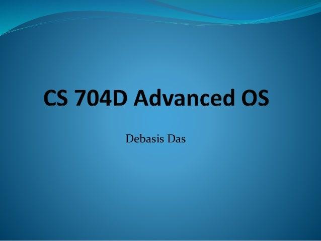 Cs704 d distributedschedulingetc.