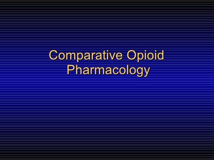 Opioid Pharmacology