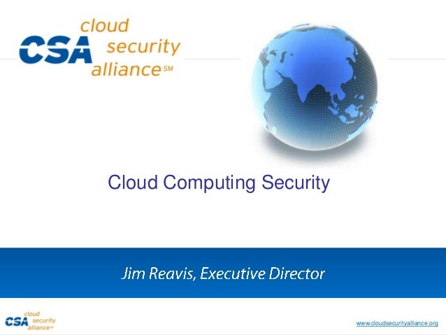 TAG Speaker Series: Cloud Security w/ Jim Reavis