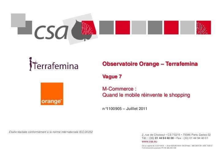 Observatoire Orange – Terrafemina                                                                  Vague 7                ...
