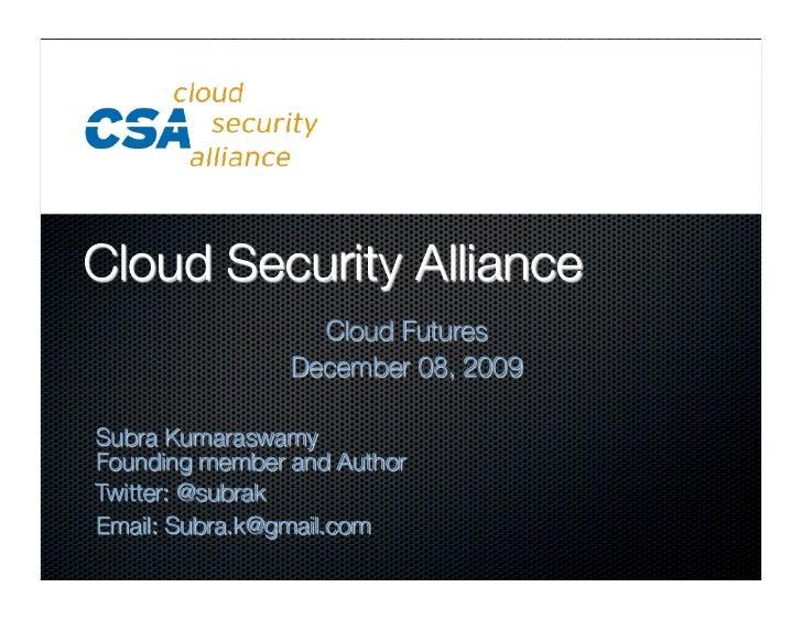 Cloud Security Alliance - Guidance