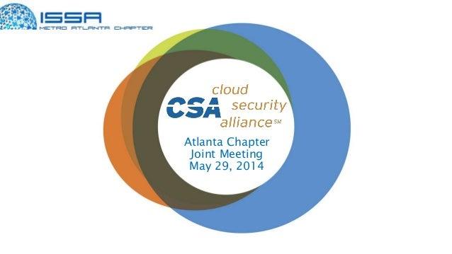 Atlanta Chapter Joint Meeting May 29, 2014
