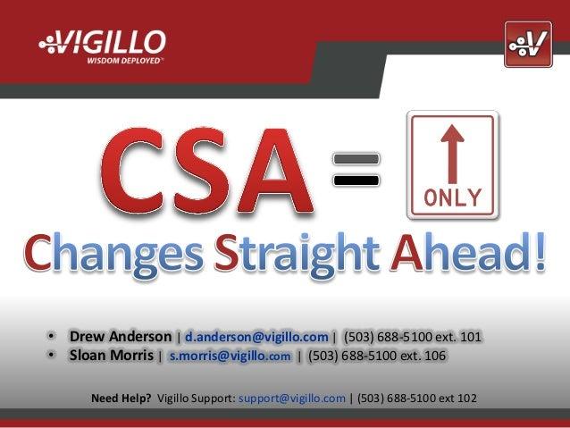 • Drew Anderson | d.anderson@vigillo.com | (503) 688-5100 ext. 101• Sloan Morris | s.morris@vigillo.com | (503) 688-5100 e...