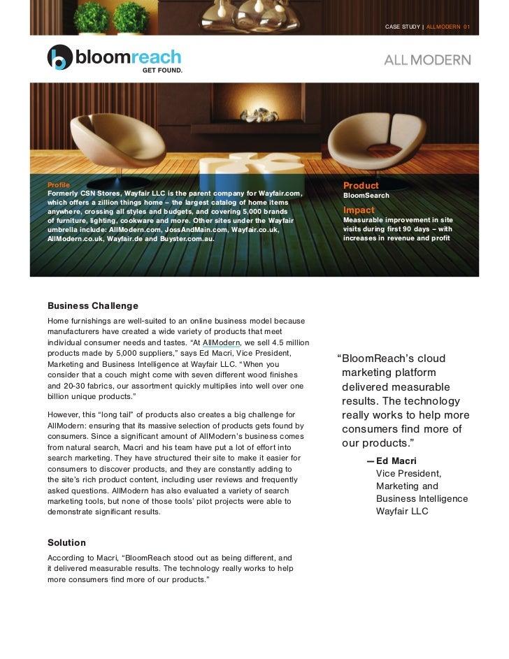 CASE STUDY | ALLMODERN 01Profile                                                                     ProductFormerly CSN S...