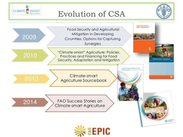 climate smart agriculture capturing the synergies Climate smart agriculture in the african context and adapt to climate change climate-smart agriculture can provide adaptation synergies.