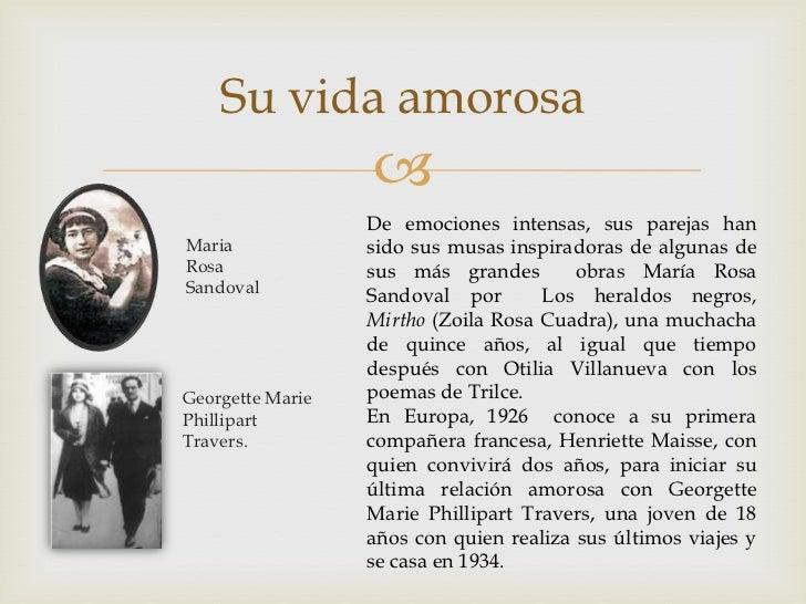 Cesar Vallejo y zoila rosa cuadra