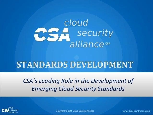 CSA Standards Development Summary