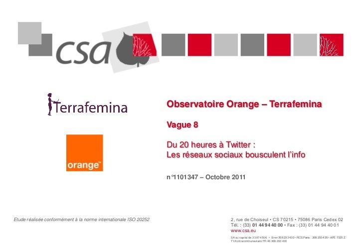 Observatoire Orange – Terrafemina                                                                  Vague 8                ...
