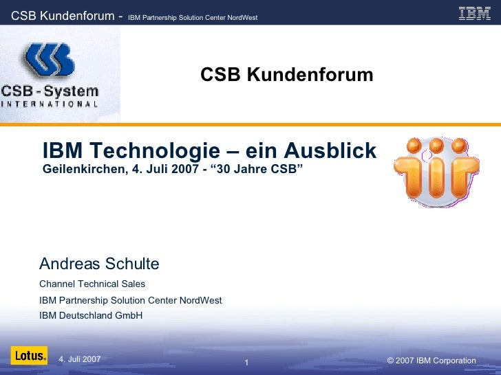 Csb Kundenforum 2007