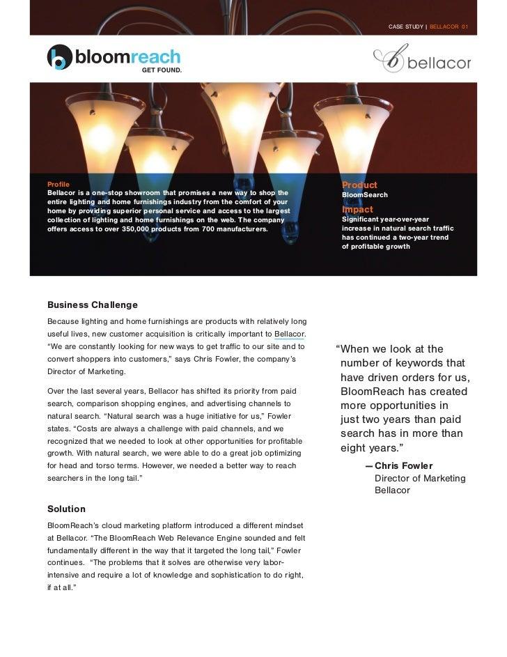 CASE STUDY | BELLACOR 01Profile                                                                        ProductBellacor is ...