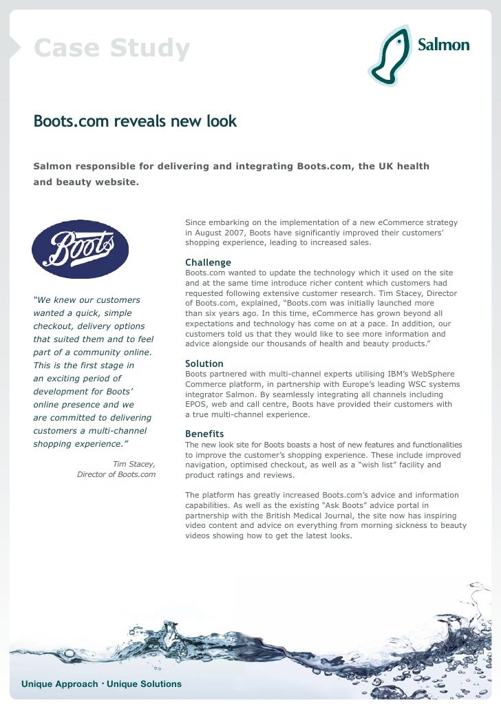 case study of alliance boots plc Case study alliance boots the formation of alliance boots through the 2006 merger of alliance unichem plc and boots group plc.