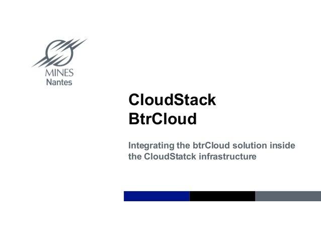 BtrCloud CloudStack Plugin