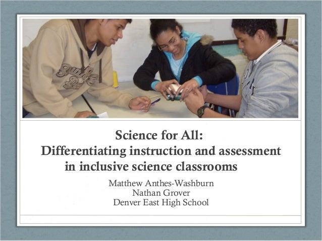 Colorado Science Conf - Differentiated Instruction
