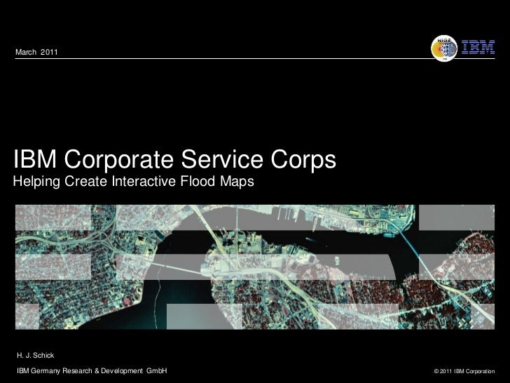 IBM Corporate Service Corps - Helping Create Interactive Flood Maps