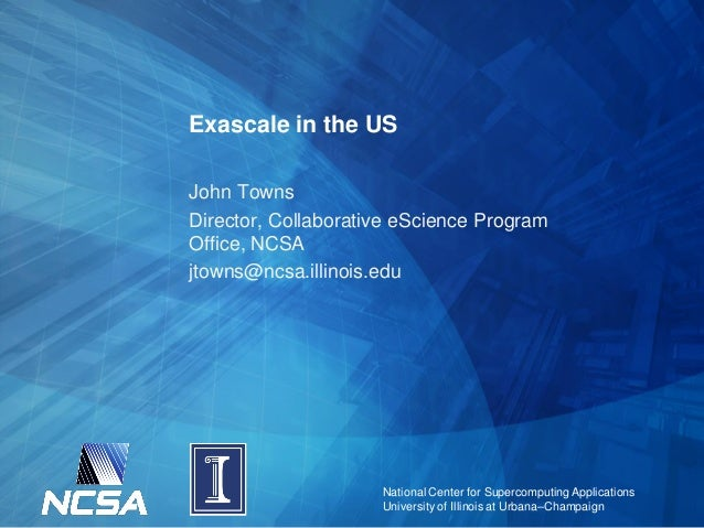 CSC2013: Exascale in the US