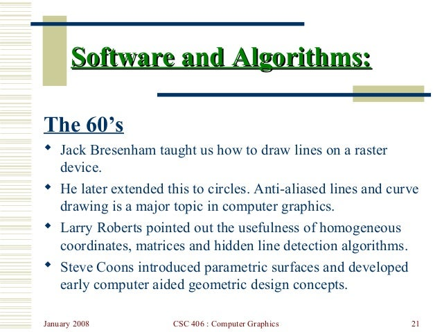 Bresenham S Line Drawing Algorithm In Java Applet : Lecture introduction to computer graphics