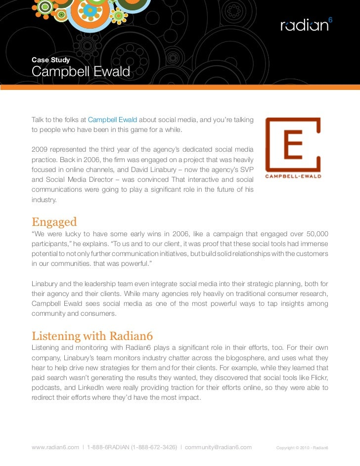 Case Study  Campbell Ewald   Talk to the folks at Campbell Ewald about social media, and you're talking to people who have...