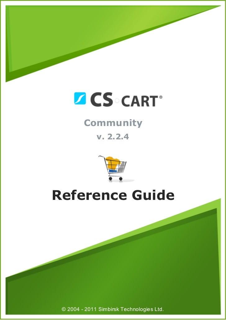 Cscart 224 community